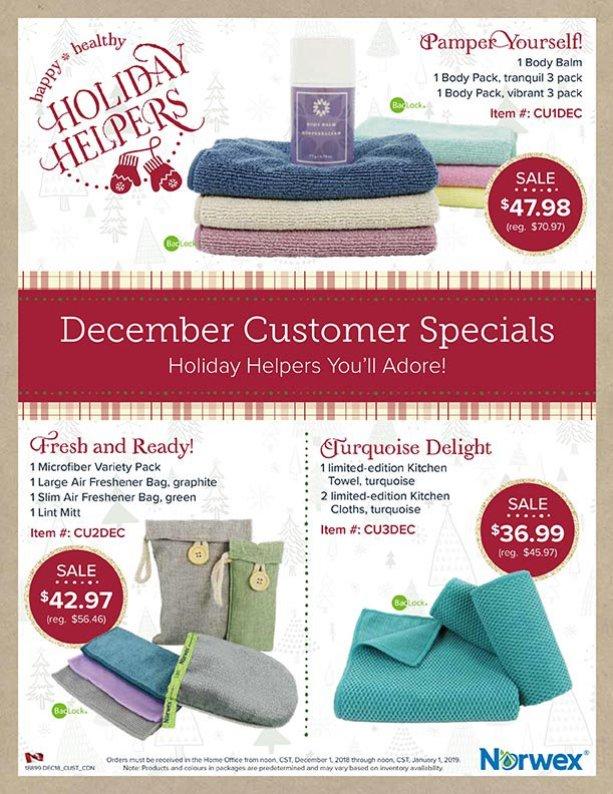 Norwex Christmas Customer Specials