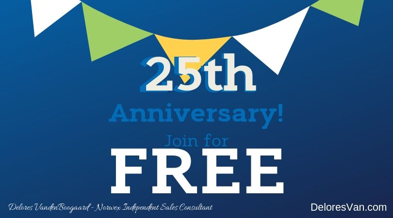 Norwex's 25th Anniversary… Join for FREE