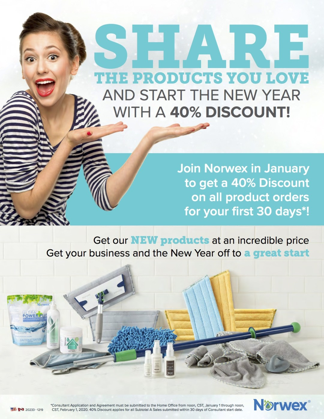 join norwex 40% discount