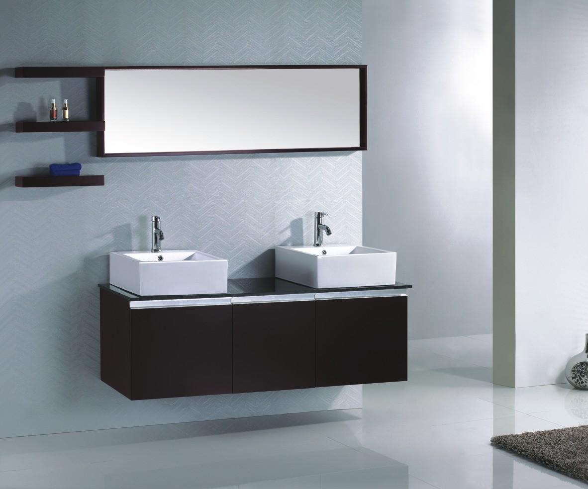 Ensemble complet meuble salle de bain weng double vasque