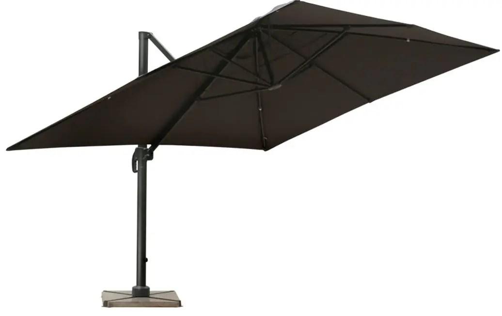 du parasol rectangulaire inclinable