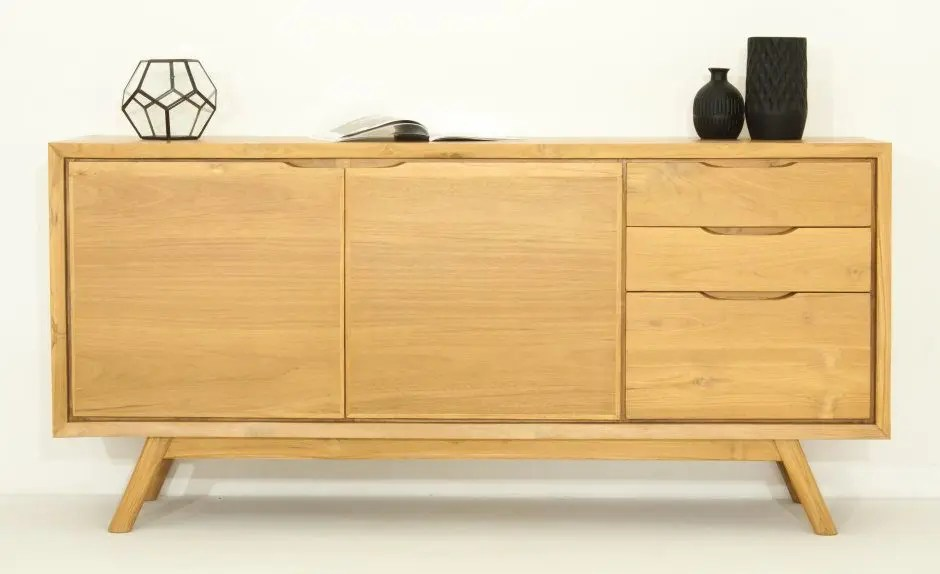 buffet delorm design chene massif interieur