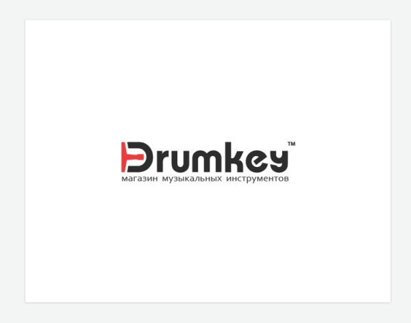 Логотип для магазина музыкальных инструментов «Drumkey»
