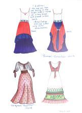 Roncal Erronkari skirts, TS Hyman Rapunzel