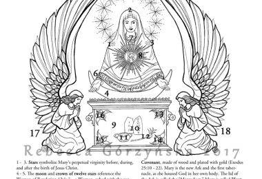Our Lady of the Sign - Ark of Mercy - Catholic Coloring Page