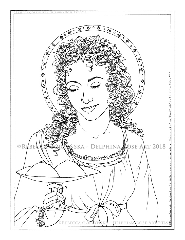 Saint Clare of Assisi Coloring Page – Immaculate Heart Coloring Pages | 971x750
