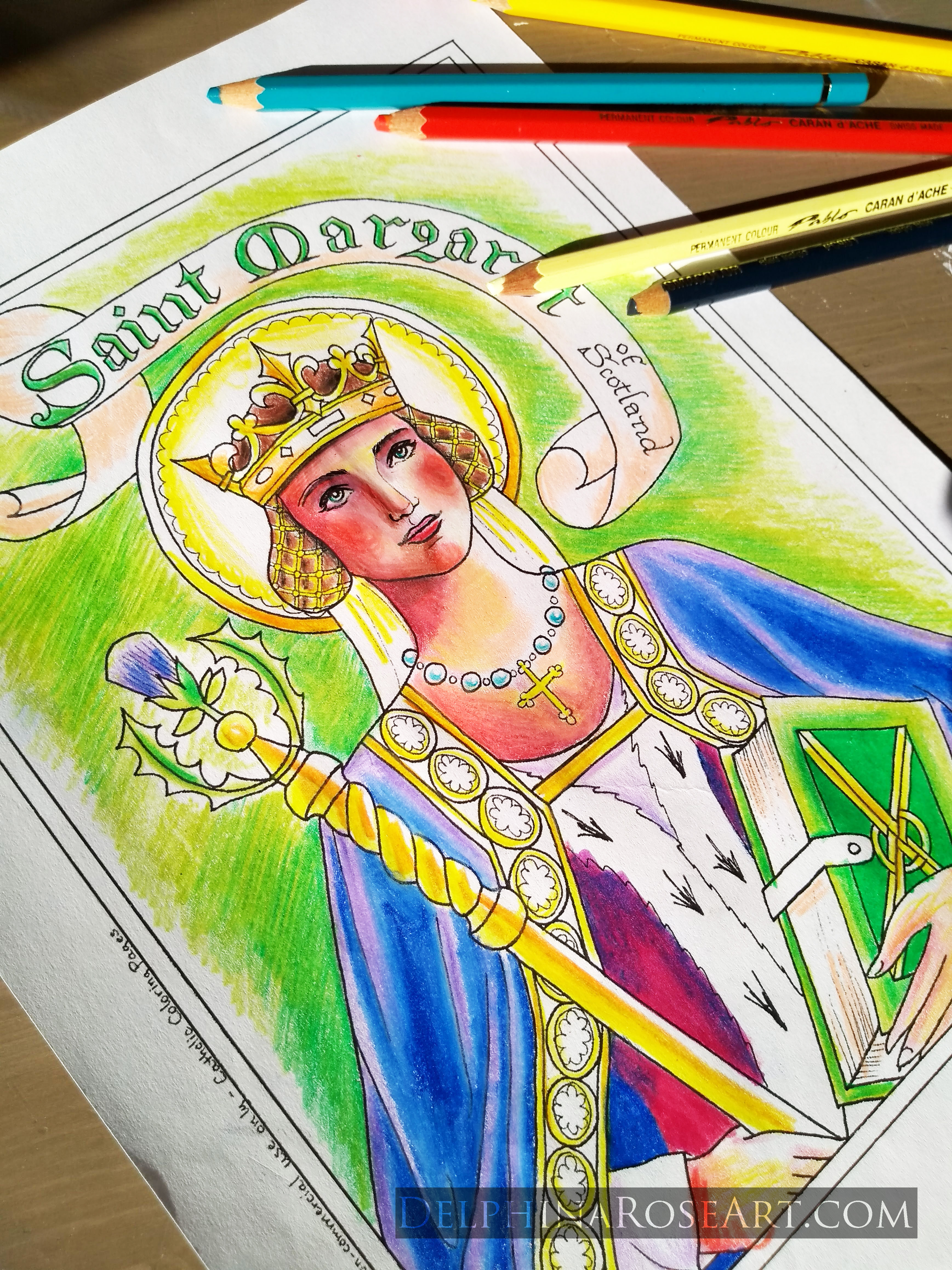 Saint Kateri Tekakwitha Coloring Page – Immaculate Heart Coloring ... | 4632x3474