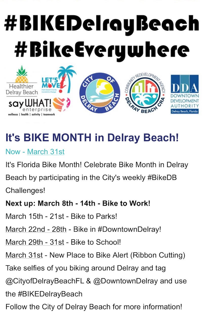 Bike Month in Delray Beach