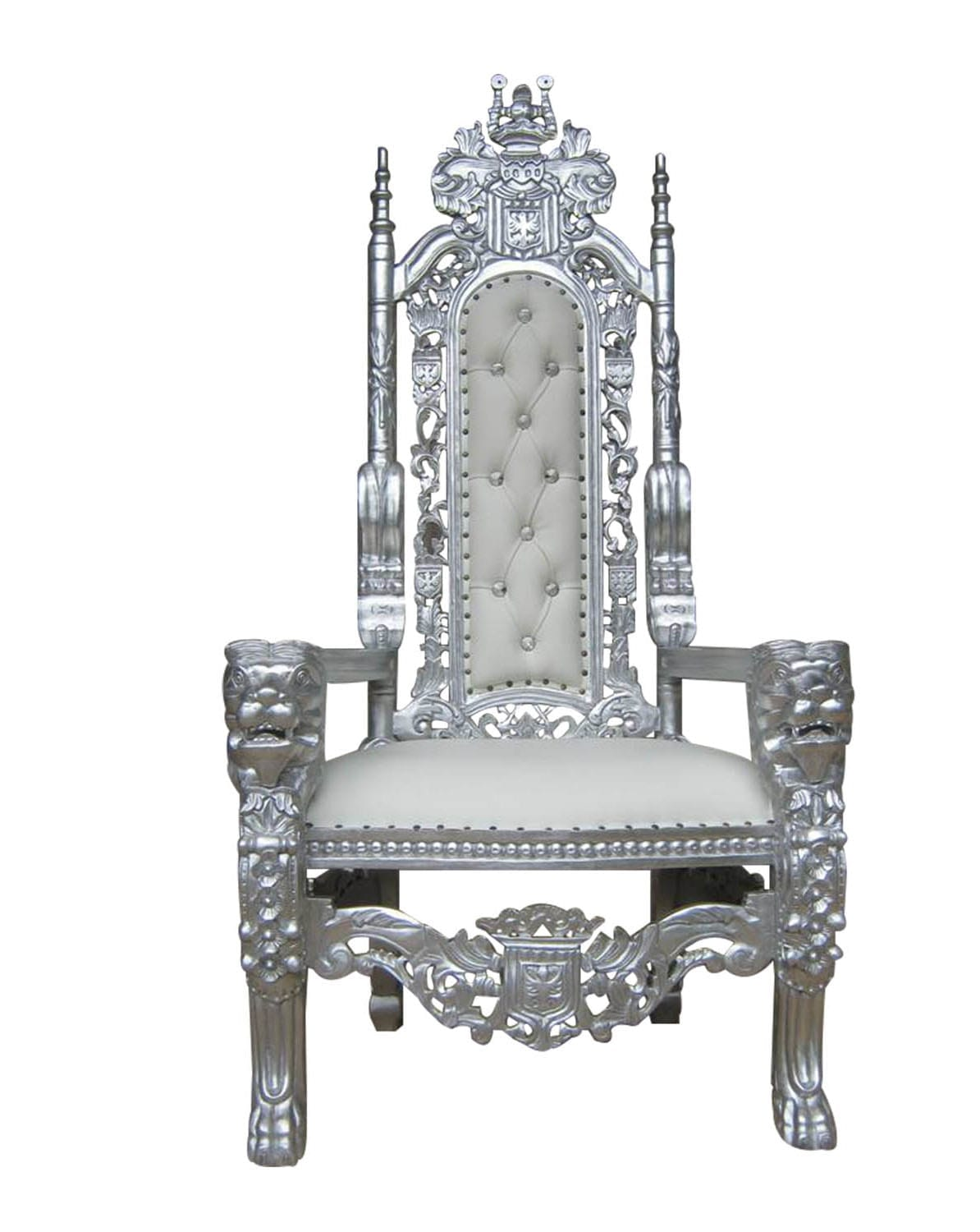 King And Queen Throne Chairs For Rent Silver Throne Chair Del Rey Party Rentals