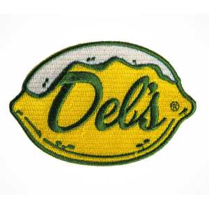 Del's Iron On Patch of Logo