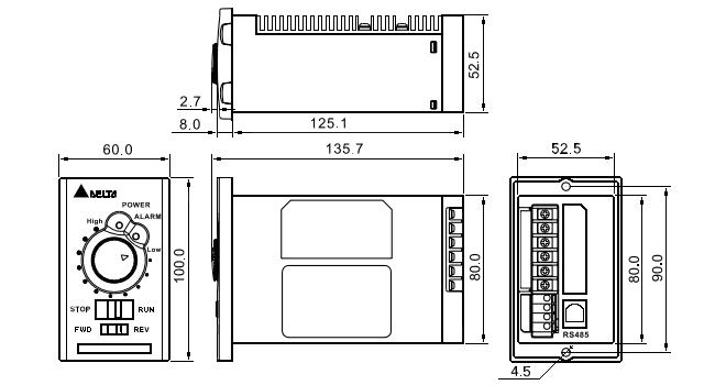 VFD004L21B Преобразователь частоты VFD004L21B