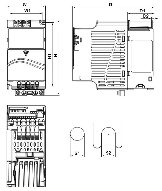 VFD007E43T Преобразователь частоты VFD007E43T