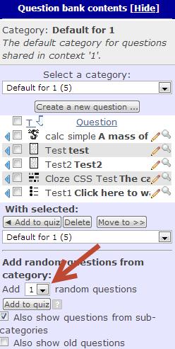 How Can I Randomize My Moodle Quiz Questions