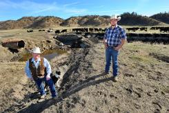Jim Keegan, with business partner Ross Miller, are coping with a drought the scale of which has not been seen since the late 1970s. Keegan has culled 200 cows from his herd. (DTN/Progressive Farmer photo by Pico Van Houtryve)