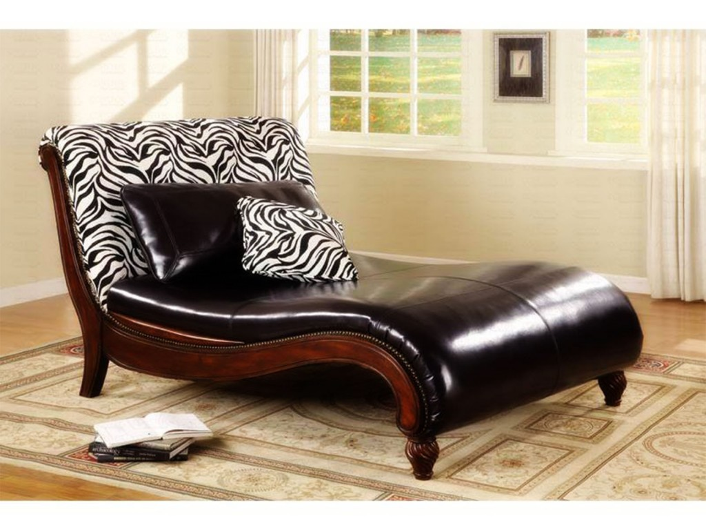 Leather Chaise Lounge Chair Smart Black Leather Chaise Lounge Furniture Ideas