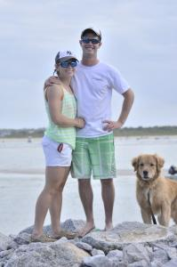 Copper, Ash, and Me at the beach