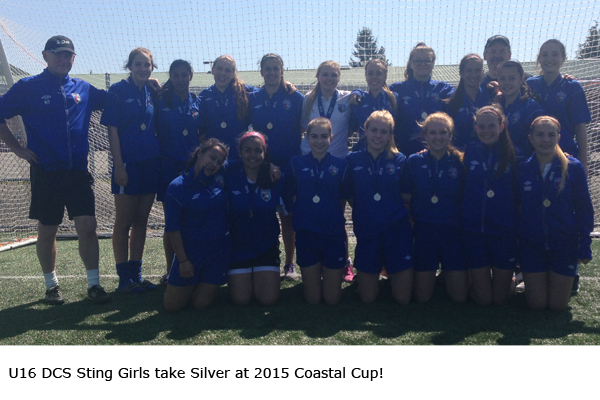 U16 DCS Sting Girls take Silver at 2015 Coastal Cup