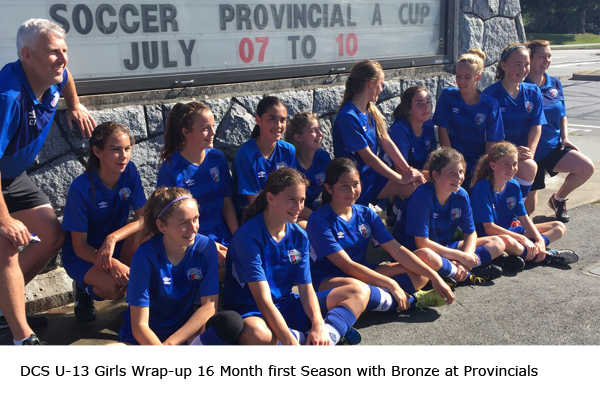 U13 Girls take Bronze in 2016 Provincial Cup