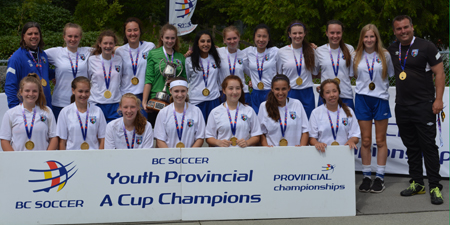 U15 Girls are BC Soccers Provincial A Cup Champions