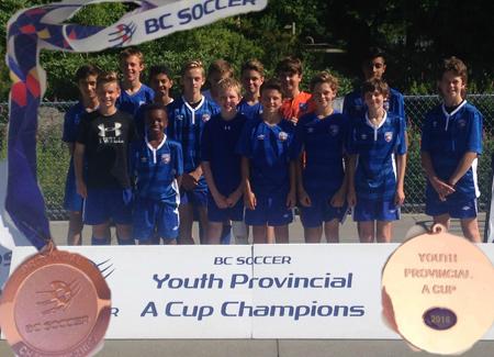 DCS U13 Boys Championships - Bronze at Provincal A Cup 2016