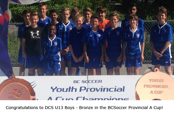 U13 Boys take Bronze in 2016 Provincial Cup