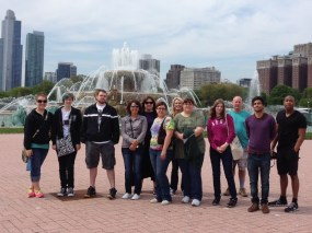 Chicago 2014 Students In Front of Buckingham Fountain, Grant Park