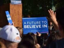 Presidential hopeful Sanders speaks in Stockton