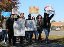 Anti-Trump protest comes to Delta's campus