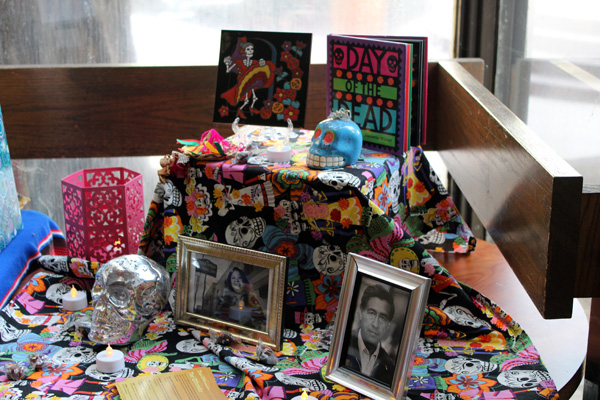 An offrenda located in lower Danner Hall for Dia de los Muertos on Nov. 1, 2018.