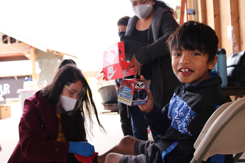 Supplies are distributed at a DREAMers Roadmap supply drive. PHOTO BY JAELYN MORALES