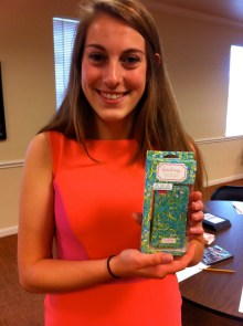 Abby won a Lilly Pulitzer iPhone case