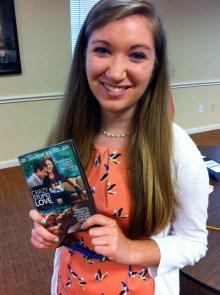 Meghan won a DVD