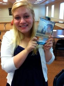 Brianna won a DVD
