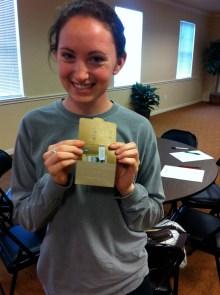 Liz won a $20 gift card to Starbucks