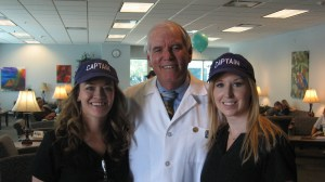 Event Organizers Kristie Parton, Community Service Chair for the American Student Dental Association and Christine Van Grossbeck, both third-year dental students, along with Dr. Russell O. Gilpatrick, Professor and Dean of the College of Dental Medicine at Midwestern University on Super Sealant Saturday 2013.