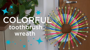 Need to spruce up your dental office? This toothbrush wreath is the perfect year-round decoration!