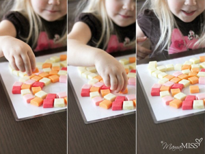 "Mamamiss.com has an excellent how-to for building, ""Little Picasso: Starburst Candy Mosaic."""