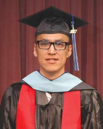 Master's Secondary Education Degree recipient Jimmy David Peter Andrew of Kongiganak.