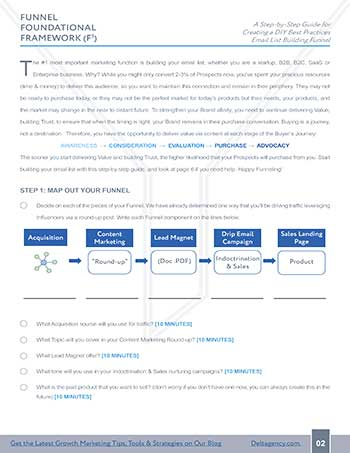 Foundational Funnel Framework guide page 2