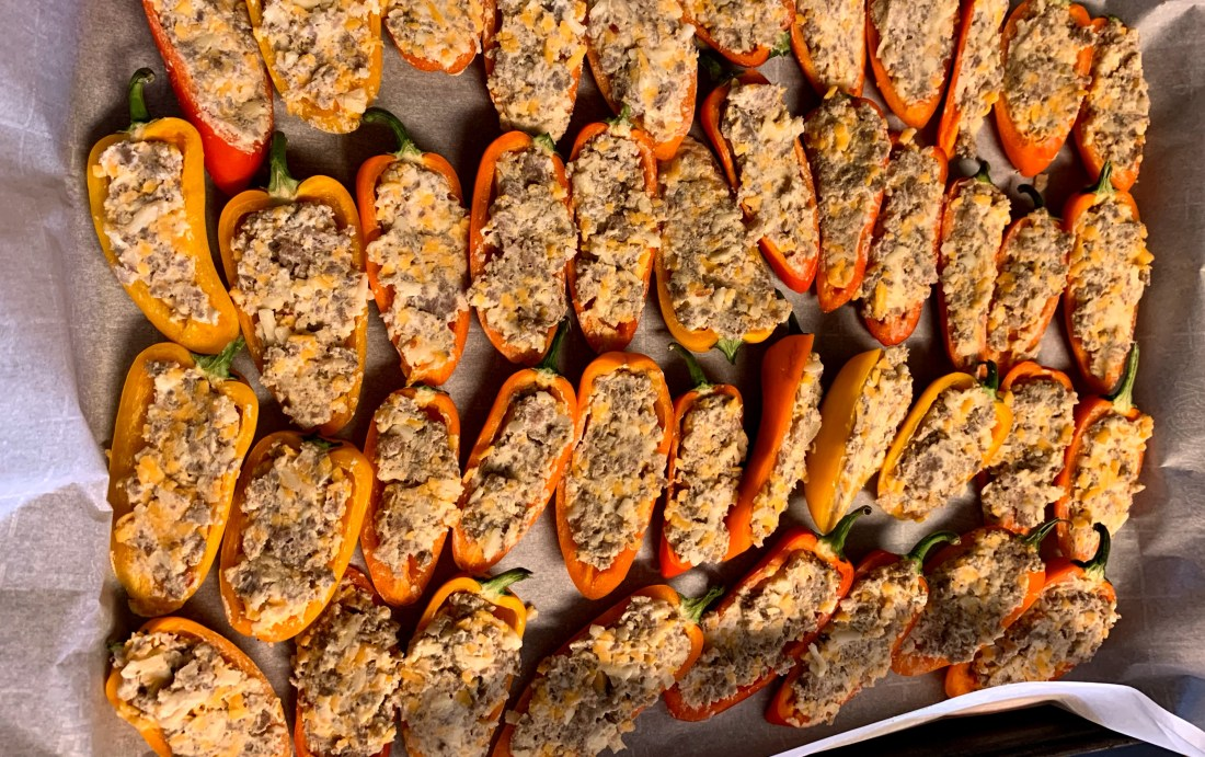 Sausage Stuffed Mini Peppers 3