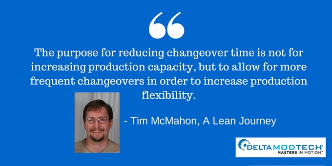 Purpose of reducing changeover