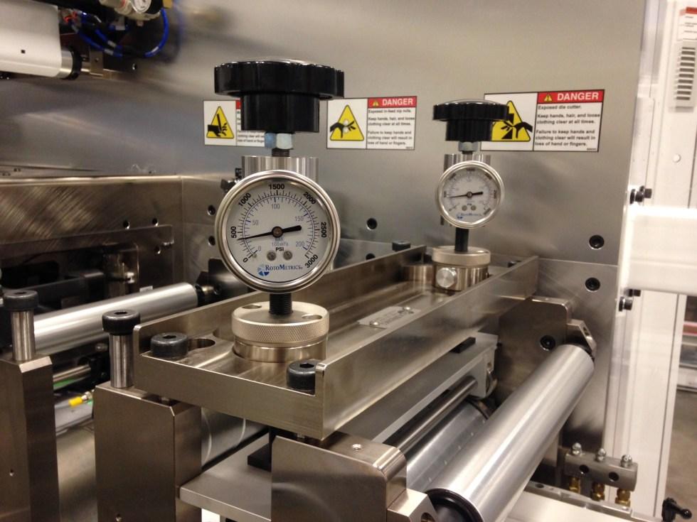 Die Roller Hydrajack Pressure adjustment