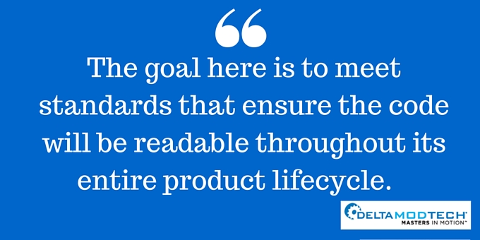 The code should be readable throughout the product lifecycle