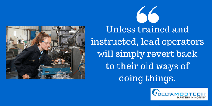 Training will prevent reverting to old ways