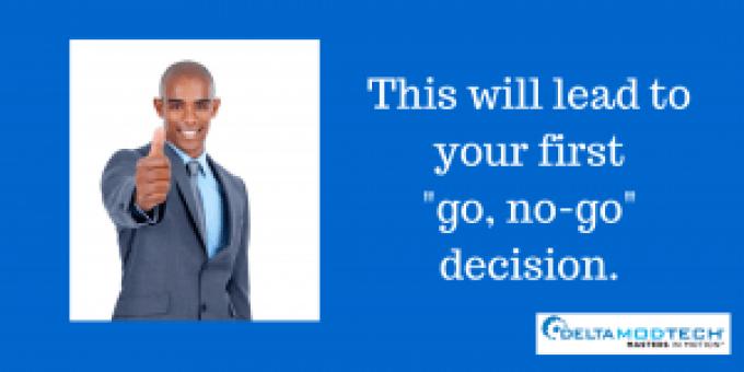 """""""Go, no-go"""" decision."""