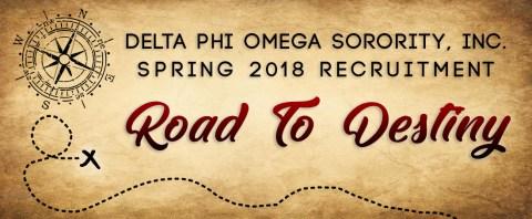 Spring 2018 Recruitment: Road to Destiny