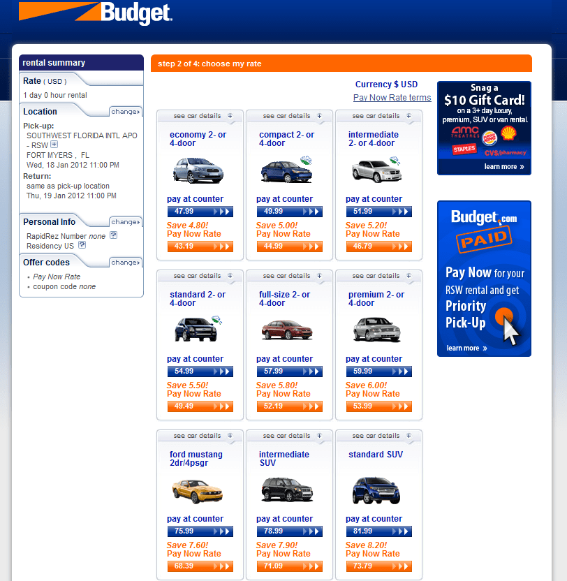 Budget Car Rental: Never Ever Rent A Car From Budget Car Rental Via Delta Air
