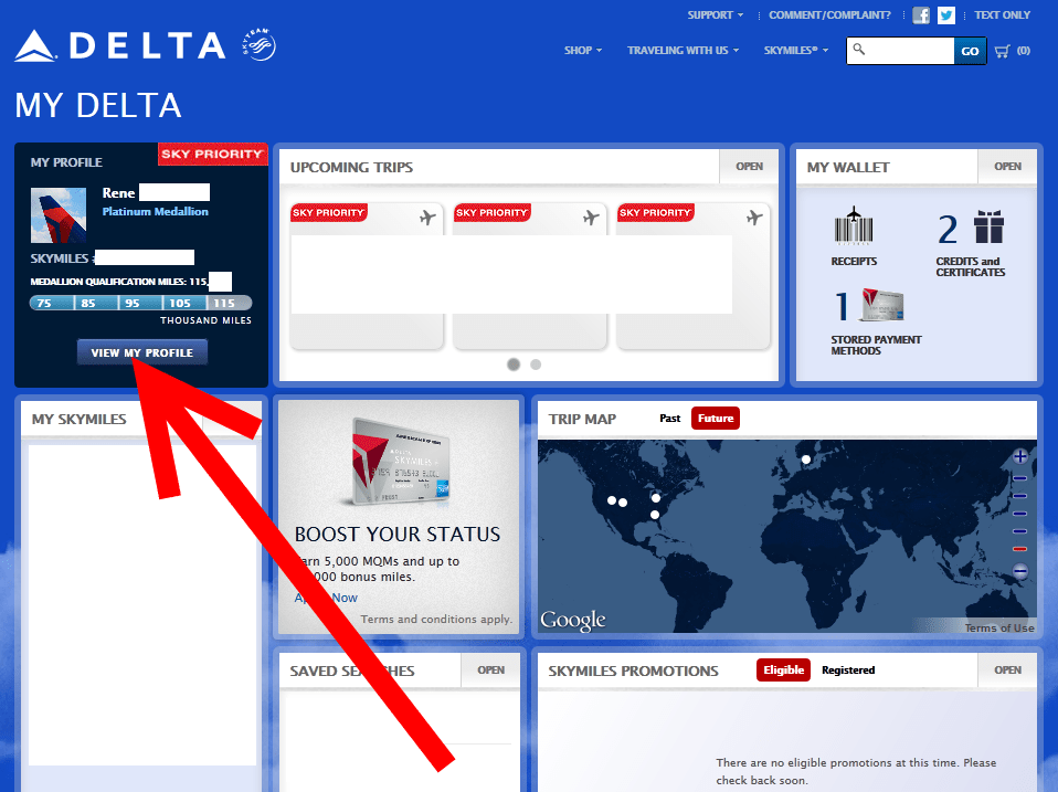 page2 known traveler number on the new delta com know where it is,Delta Precheck Invitation