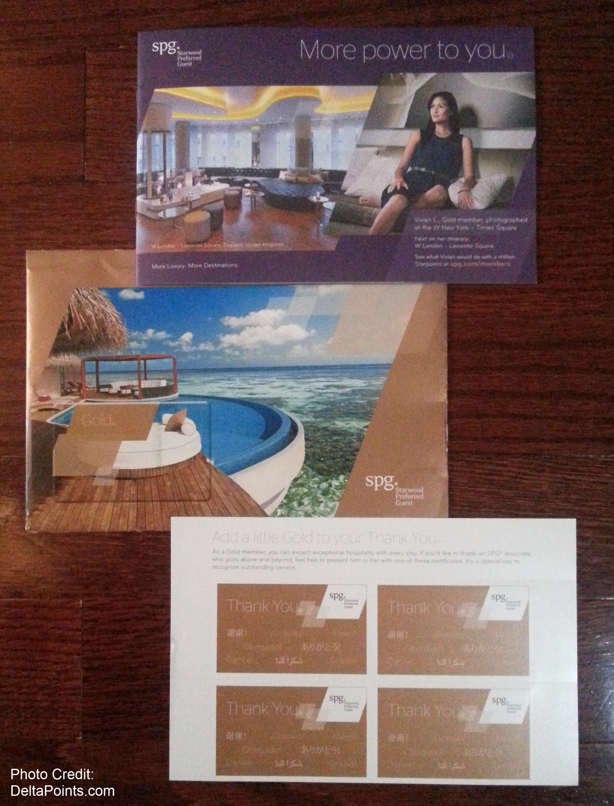 """my spg gold card hotel came today some """"new stuff"""" too"""