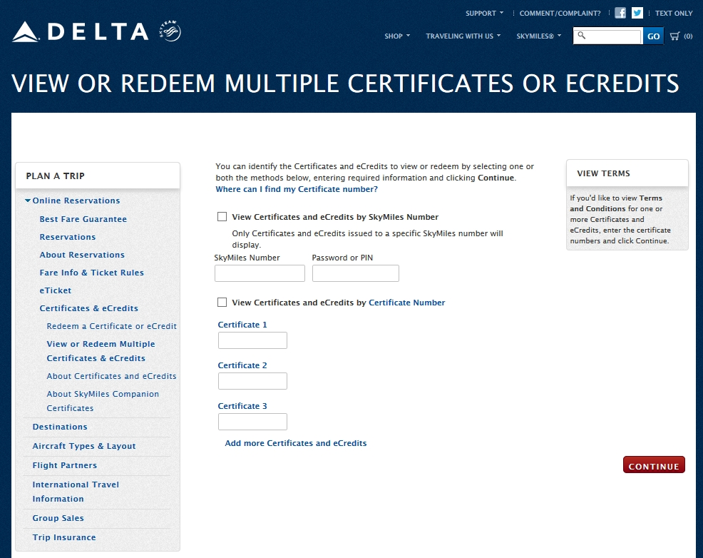Reader Question Is There A Way To Redeem Multiple Certificates Or